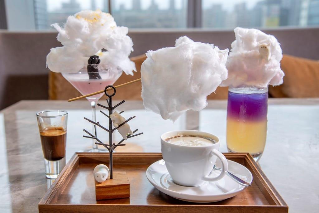 六福萬怡推療癒系下午茶 慵懶萌貓出沒雲朵間